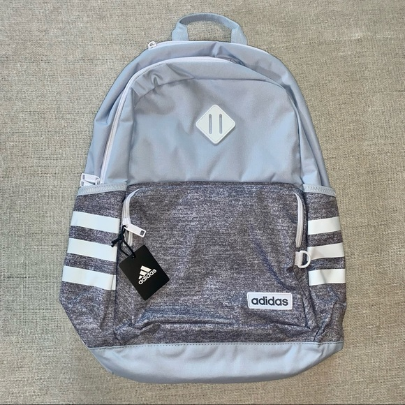 adidas backpack classic jersey grey halo blue NWT